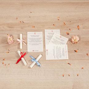 Pergamena piccola, regalo solidale in ambito Pergamene