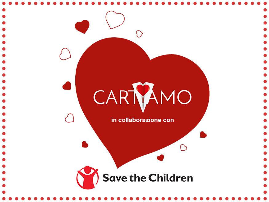logo save the children e cartiamo